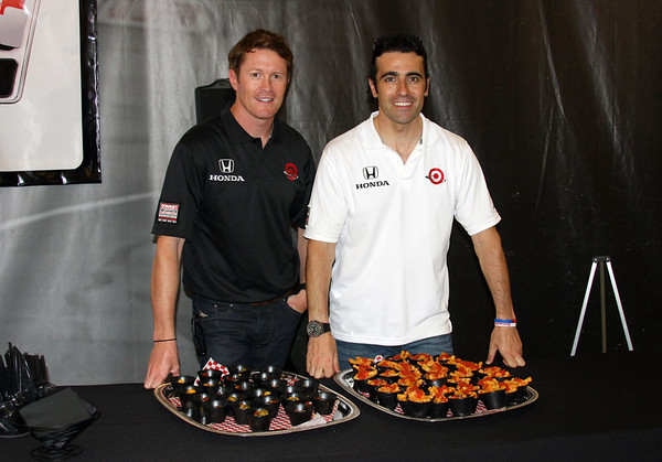 The guys with Scott Tots and Franchitti Ziti